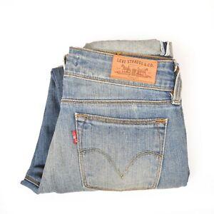Levis-571-Slim-Coton-Boyfriend-Denim-Bleu-Delave-Delave-Jeans-W28-L26-UK10