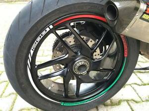 ADESIVI PER CERCHIONI MOTO wheels stickers lateral kit standart stripes laterali