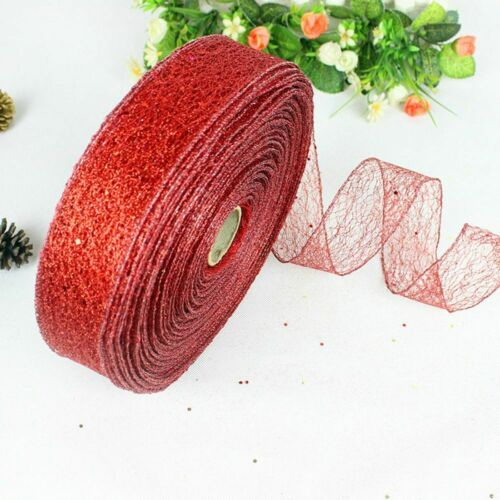 2M Gauze Red Gold Silver Ribbon 5cm Christmas Tree Party Home Wedding Decoration