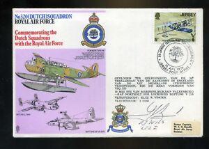 1976-320-Dutch-Sqn-RAF-Cover-SIGNED-E-Wils-Dutch-pilot-320-Sqn-WW2