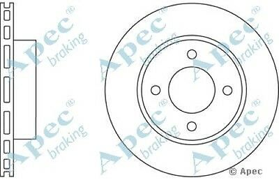 1x OE Quality Replacement Front Axle Apec Vented Brake Disc 4 Stud 245mm Single