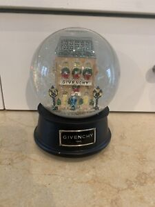 Vintage 1999 Givenchy Limited Edition Winter in Paris Wind-up Musical SnowGlobe