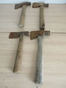 4-VINTAGE-AXES-AXE-TOMAHAWK-CAMPING-HATCHET-LOT-OF-4-OUTDOORS-ANTIQUE-TOOL