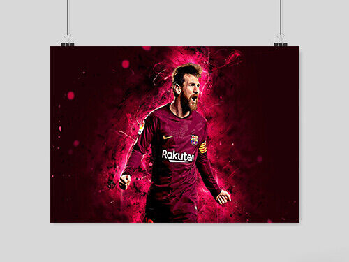 LIONEL MESSI POSTER SOCCER FOOTBALL THE GOAT GOD BARCA FC BARCELONA A4 A3 SIZE