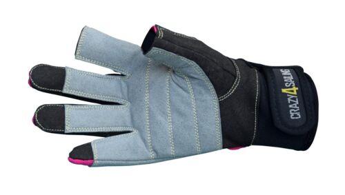 Handschuhe crazy4sailing Amara Kunstleder Segelhandschuhe Offshore 2 Finger-frei Segeln