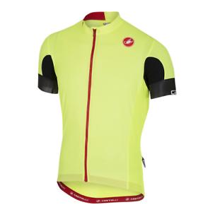 Castelli Cycling Aero Race 4.1 Full Zipp Jersey Men's Large Flo Yellow