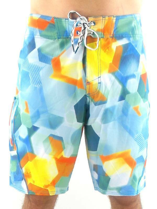 O'neill Boardshort Swim Trunks Flares EpicFreak Green blue Yellow Elastic