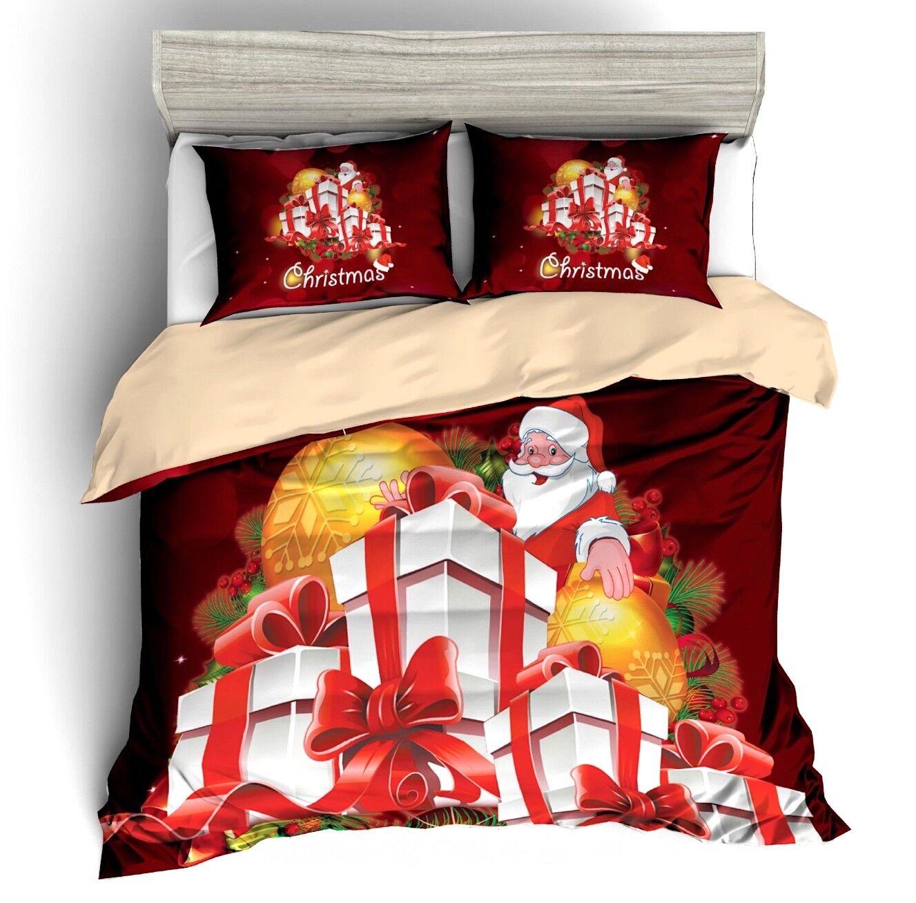 Babbo Natale Natale Natale Set Letto Copri Piumone Federe Copripiumone Duvet Cover BED0084 4aff2e