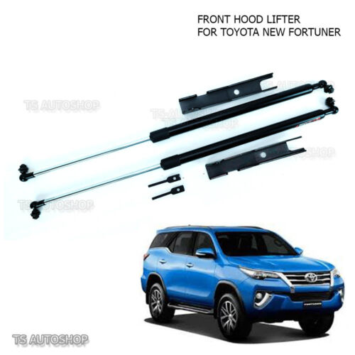 Set Bonnet Hood Gas Strut L+R W// Brackets Fit Toyota Fortuner Suv New 2016 2017