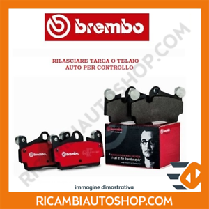 KIT PASTIGLIE FRENO ANTERIORE BREMBO FIAT 500 C 0.9 KW:63 2009/> P23138