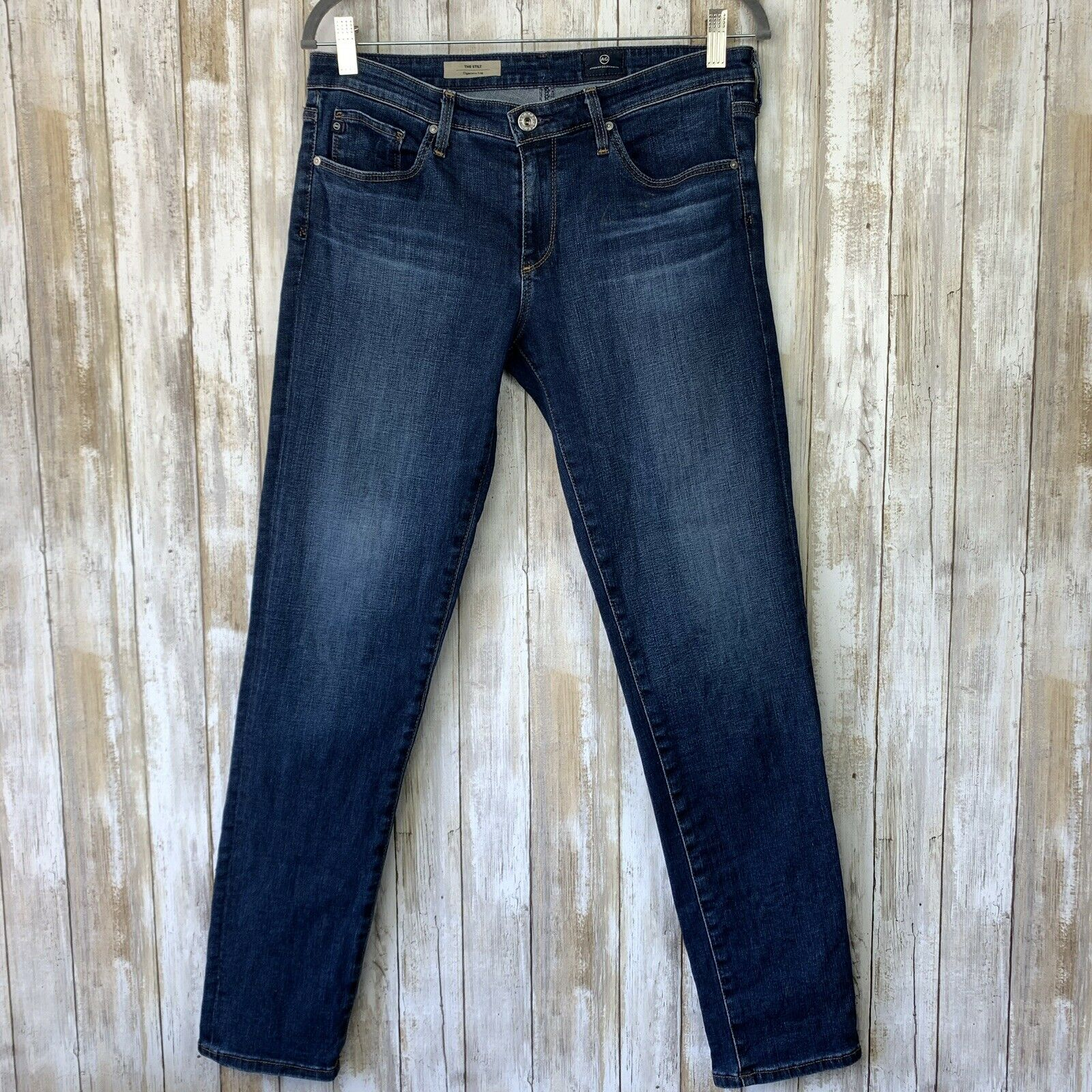 AG Adriano goldschmied Stilt Jeans Stretch Cigarette Skinny Leg 30 bluee Wash