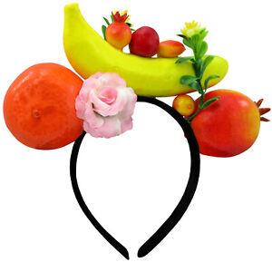 Womens Fun Tropical Fruit Banana Luau Headband Costume Accessory