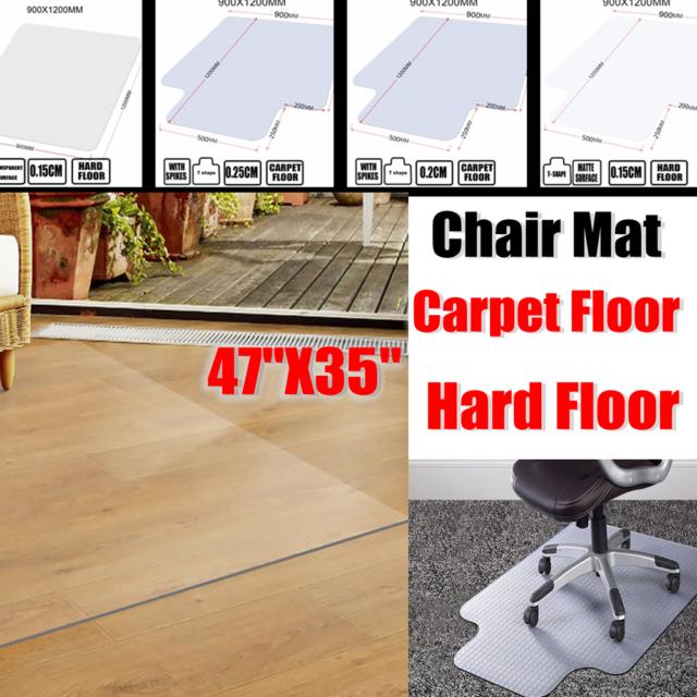 Clear Pvc Matte Chair Floor Mat Rolling