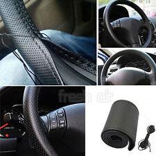 PU Black Leather Car Steering Wheel Cover