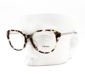 d14ff2696ed9a PRADA VPR 28S-F UAO-1O1 Eyeglasses Glasses Opal Brown Havana ~ 54mm ...
