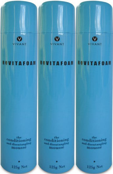 VIVANT REVITAFOAM 125 ML THE CONDITIONING MOUSSE X 3