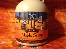 2 half gallons(128oz) Coombs Pure Maple Syrup, Grade A Dark Robust, GF, exp 2018