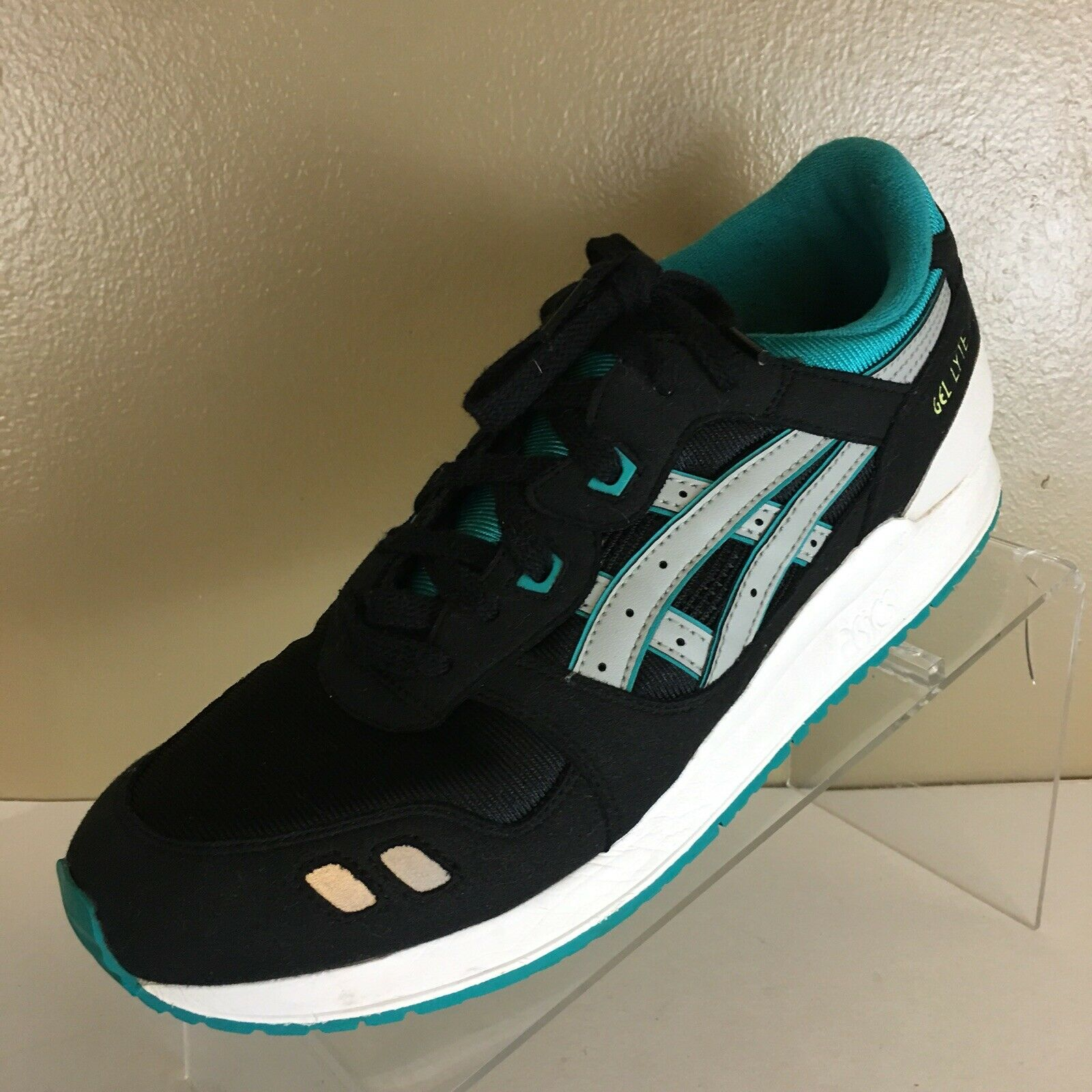 Asics Gel Lyte III Black Trainer Running  Women shoes Sneakers Size 7
