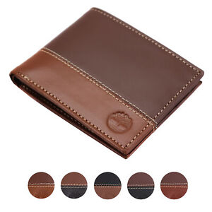 Timberland-Men-039-s-Genuine-Two-Tone-Leather-Credit-Card-Billfold-Commuter-Wallet
