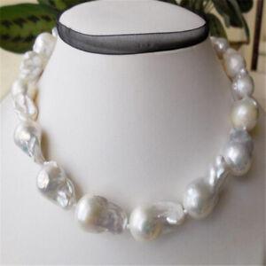 bb6a1293e96a6 15-20mm white south sea baroque pearl necklace 18 inches Classic ...