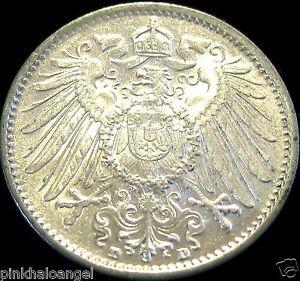 Germany - German Empire - German 1914D Silver Mark Coin - Rare High Grade