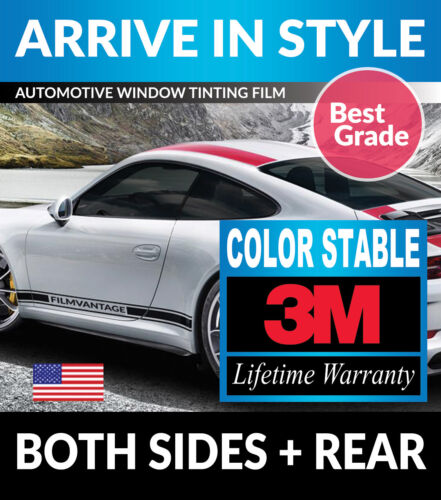 PRECUT WINDOW TINT W// 3M COLOR STABLE FOR JEEP WRANGLER 2DR 11-17