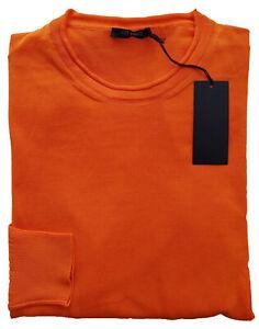 +39 Masq Hommes Pull Col Rond 100% Coton Orange T: Xl