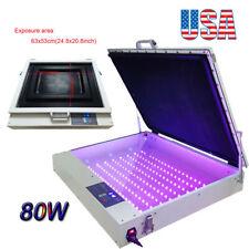 Us Stock 20 X 24 80w Vacuum Led Uv Exposure Unit Precise Silk Screen Printing
