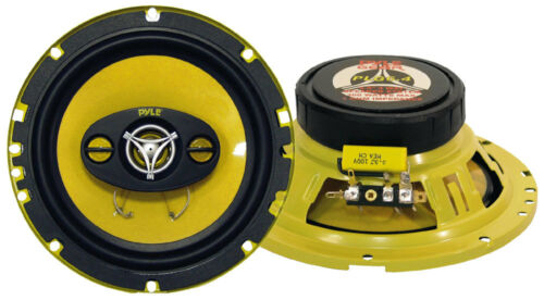 """6.5/"""" 4-way Car Audio Speakers.4 ohm Stereo Pair.OEM Door.w// grill covers 2 NEW"""