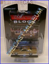 1971 '71 DODGE HEMI CHARGER R/T GOLD AUCTION BLOCK GREENLIGHT GL DIECAST