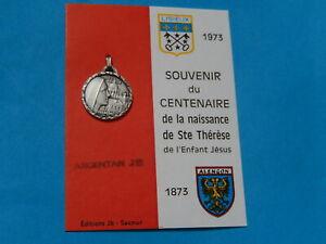 MEDAILLE-ARGENTAN-SAINTE-THERESE-1973-CENTENAIRE-LISIEUX