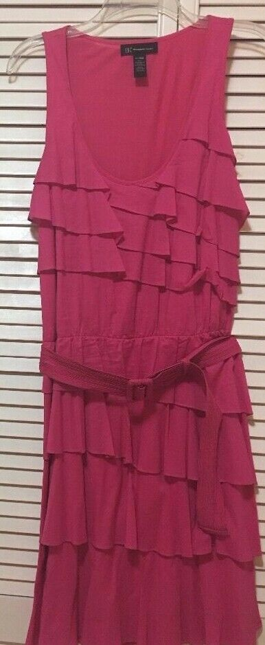 INC International Concepts Pink Dress Halter Dress Size XL-New Without Tag