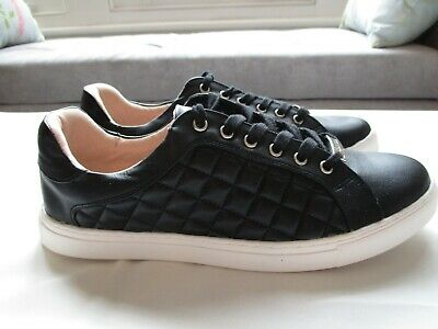 Carvela JILTED Black Quilted Low Top