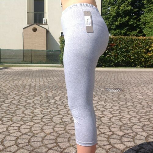 Pinocchietto Cotone Elasticizzato Leggings Corto Stretch Made In Italy Estate