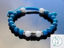 Gemini Apatite Moonstone Birthstone Bracelet 7-8'' Macrame Healing Stone Chakra
