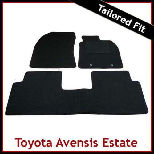 Toyota Avensis Mk3 Estate 2009-2018 Tailored Carpet Car Floor Mats BLACK