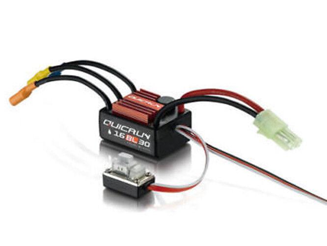Hobbywing Quicrun Waterproof Brushless Motor ESC Controller 30A 16BL30 RC 1 16