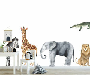 Set of 8 Pcs Wonderland Animals Wall Sticker Baby Cot Nursery Decor Decal Art