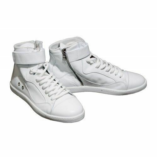 NEIL BARRETT 'Houston' (WEISS/schwarz) High-Top Trainers / Sneakers RRP: £395.00