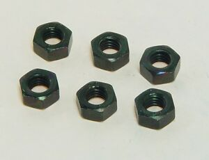 """6 pcs 1/4"""" x 28 engine prop propeller nuts from MECOA K&B #md-2401"""