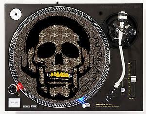 AFFILIATED ANIMAL SKIN SKULL - DJ SLIPMATS (1 PAIR) 1200's or any turntable