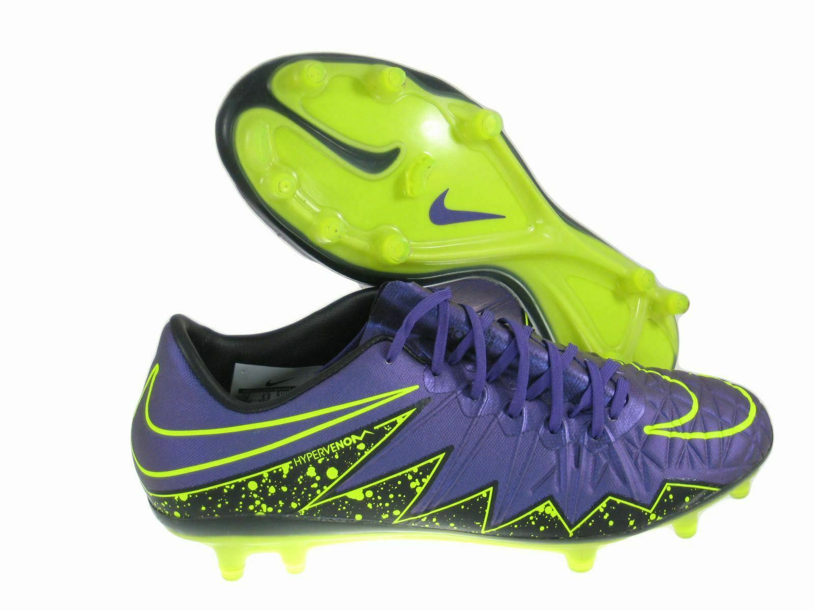 NIKE Men's Soccer Cleats Hypervenom Phinish FG SZ 6 Hyper Grape 749901-550 BOOT