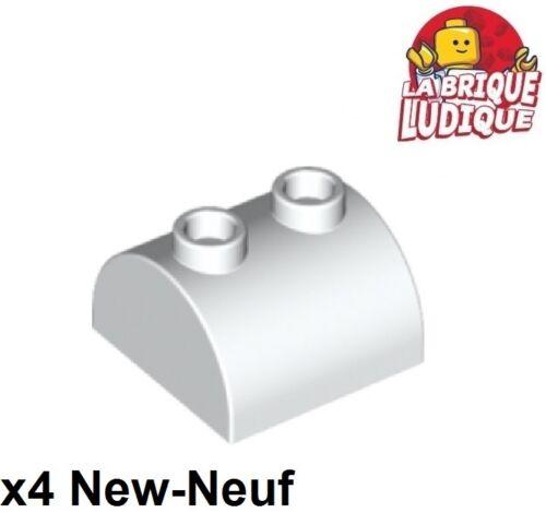 Lego 4x Brique Brick Modified 2x2 Curved Top 2 Studs blanc//white 30165 NEUF