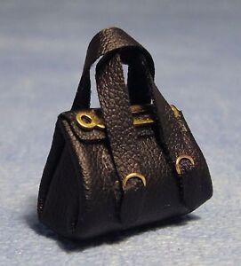 1:12 Échelle Femmes Noir Souple Main Sac Tumdee Poupées Maison Accessoire V622