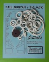 1968 Gottlieb Paul Bunyan / Big Jack Pinball Rubber Ring Kit