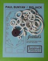 1968 Gottlieb Paul Bunyan / Big Jack Pinball Rubber Ring Kit