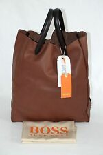 NEU DAMEN LEDERTASCHE VON HUGO BOSS ORANGE, Made in Italy,     6651
