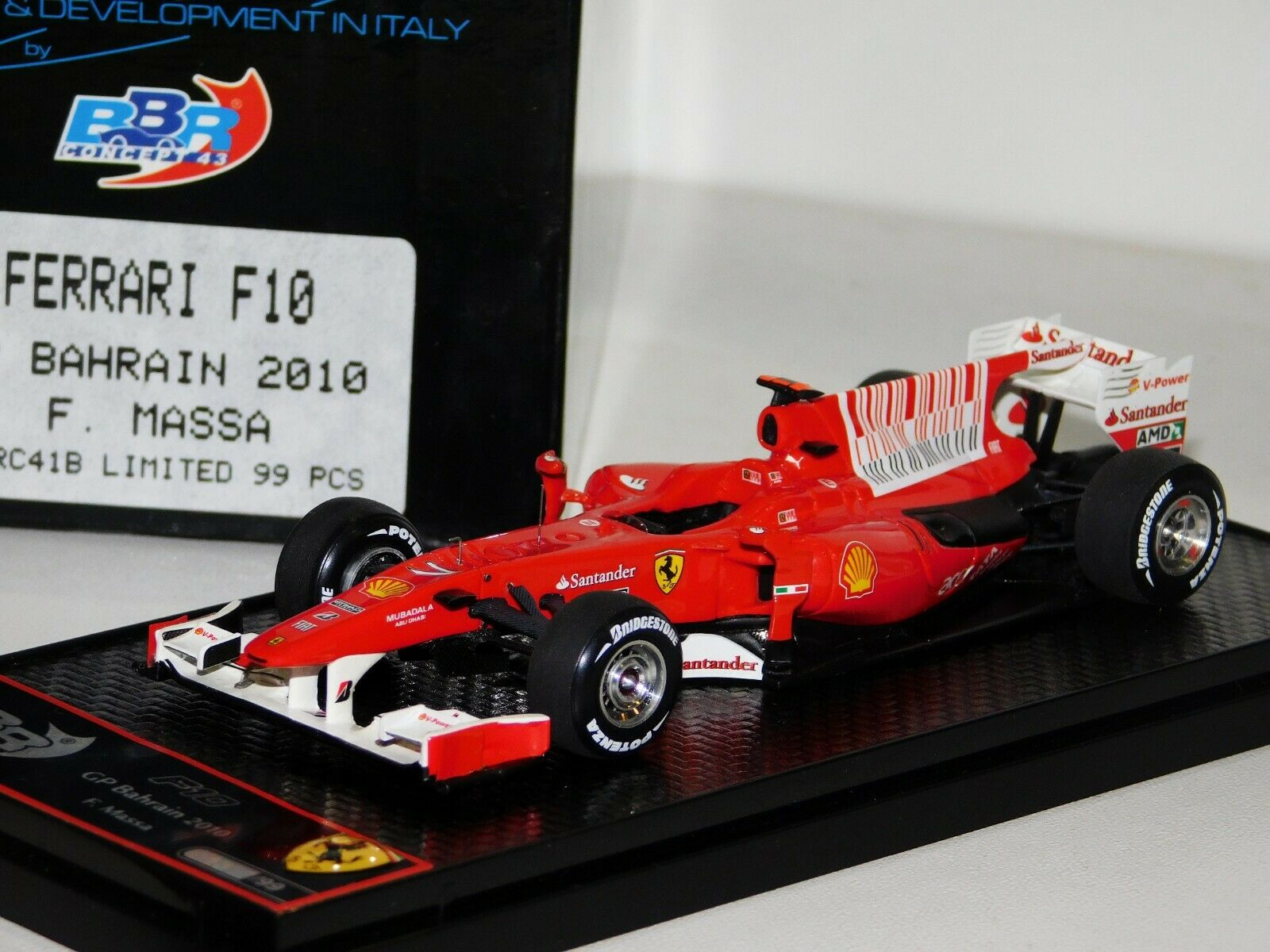 Ferrari F10 Bahrain GP 2010 F MASSA BBR Lim. 1 43