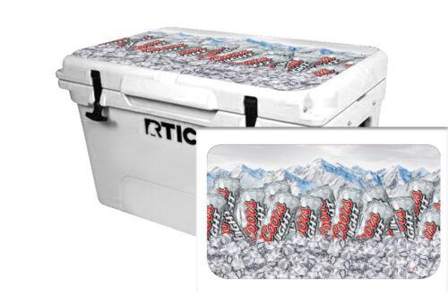 Custom Refroidisseur Accessoires Wrap Sticker Decal Fits RTIC 65 QT Couvercle bière Mountain
