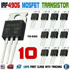 10pcs Irf4905 Transistor Irf4905pbf Mosfet Fet P Channel 55v 75a 200w Usa
